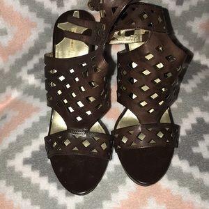 Brown wedges heels 👠